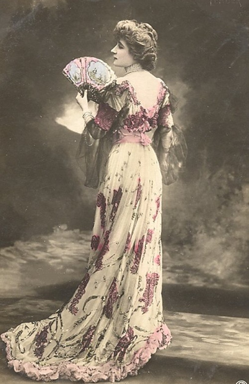 NOWOCZESNOŚĆ Angielska dama z epoki wiktoriańskiej
