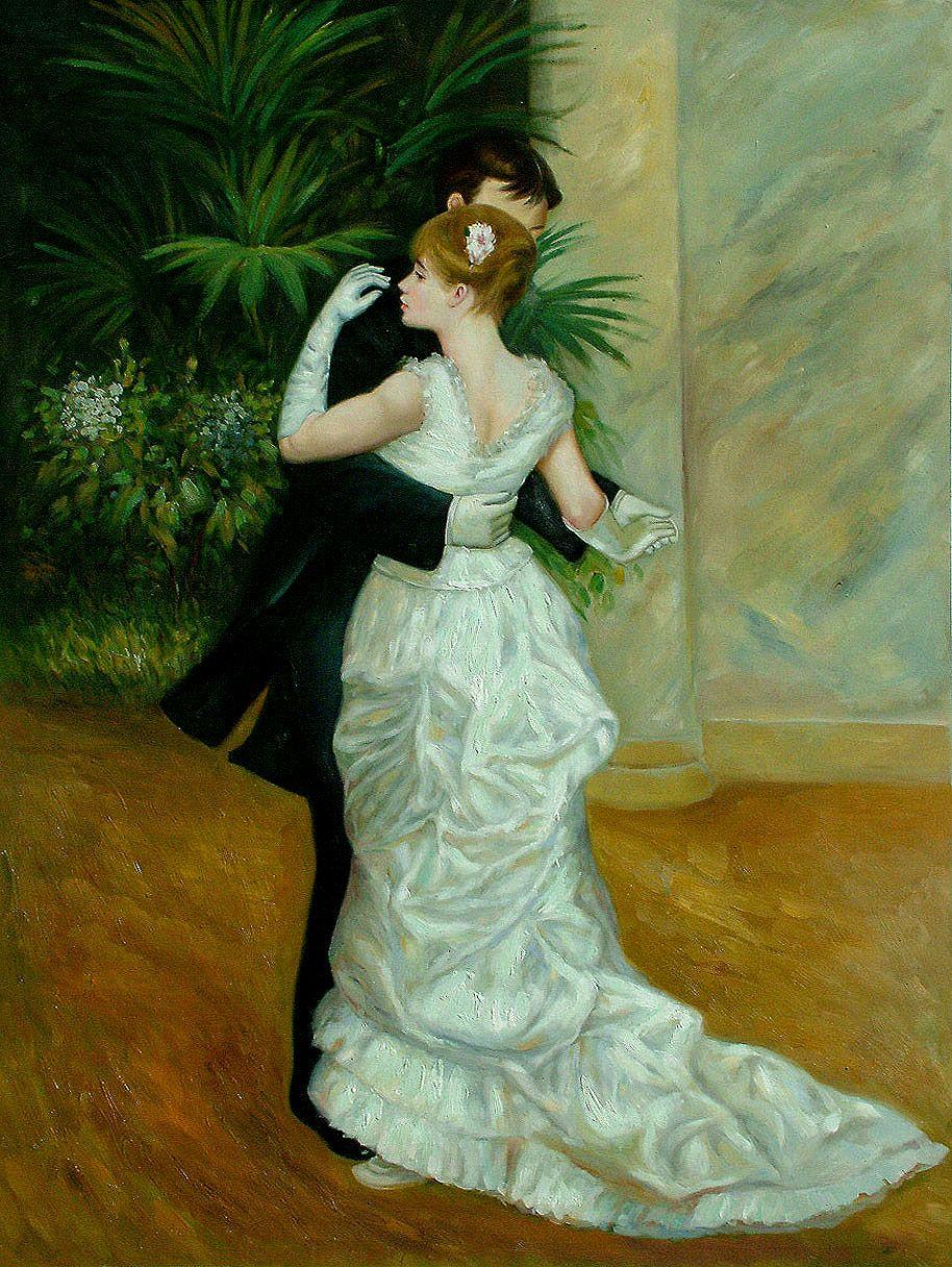 NOWOCZESNOŚĆAugust Renoir - Taniec w mieście - 1882 r.