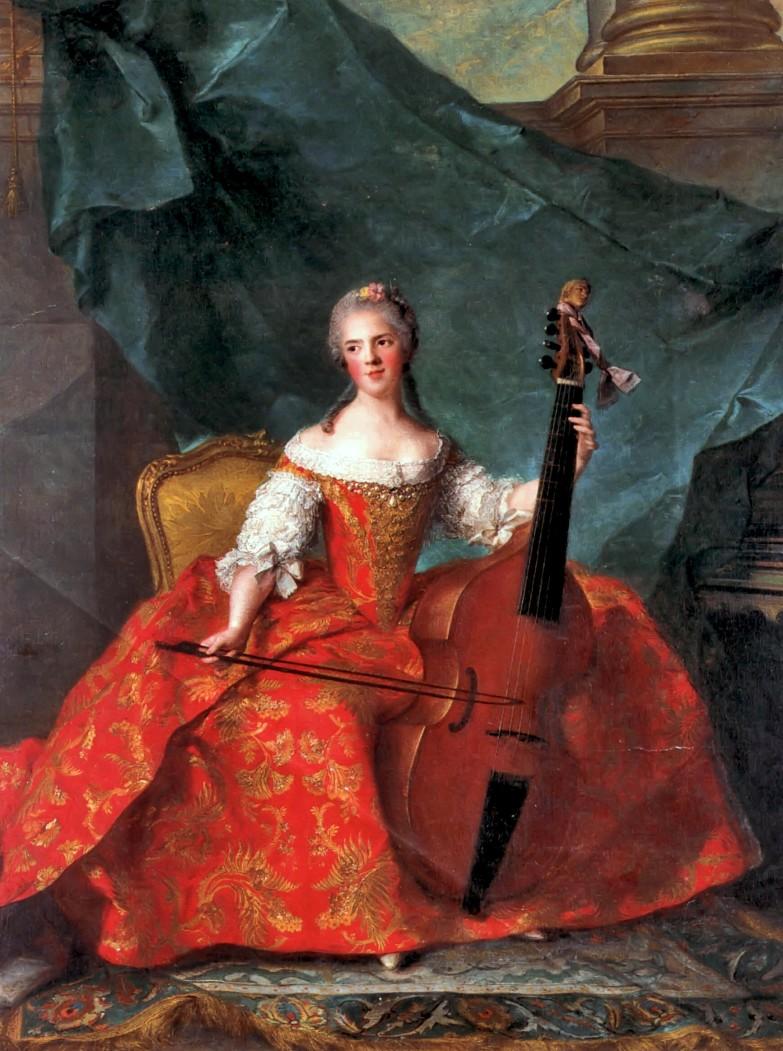 OŚWIECENIE Portret księżniczki francuskiej Henriette'y -Jean-Marc Nattier - połowa XVIII w.
