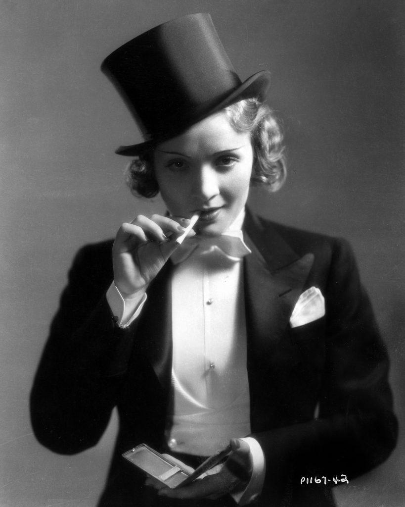 3 – Marlene Dietrich we fraku w filmie Maroko, 1930 rok